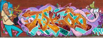 Kleurrijke Abstracte Graffitiwereld Royalty-vrije Stock Afbeelding