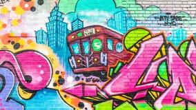 Kleurrijke Abstracte Graffitiwereld Royalty-vrije Stock Fotografie