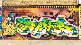 Kleurrijke Abstracte Graffitiwereld Stock Afbeeldingen