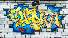 Kleurrijke Abstracte Graffitiwereld Royalty-vrije Stock Afbeeldingen