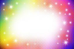 Kleurrijke abstracte halftone achtergrond Royalty-vrije Illustratie