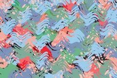 Kleurrijke abstracte het behangachtergrond van de waterverfverf Stock Afbeelding
