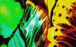 Kleurrijke abstracte het schilderen illustratie als achtergrond Stock Foto's