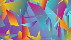 Kleurrijke abstracte lage polysplinters videoanimatie stock video