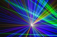Kleurrijke abstracte Laserlight-Achtergrond met ruimte voor tekst of Stock Foto