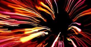 Kleurrijke abstracte lijnen die binnen zoemen Stock Afbeeldingen