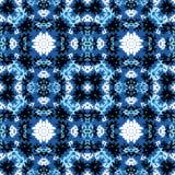 Kleurrijke abstracte mooie voorwerpen op een blauwe vectorillustratie als achtergrond Royalty-vrije Stock Fotografie