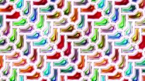 Kleurrijke abstracte naadloze naadloze de lijncyclus van de textuur geanimeerde video stock footage