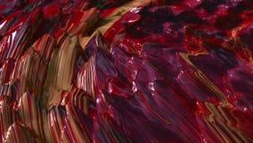 Kleurrijke Abstracte Olieverfanimatie stock videobeelden