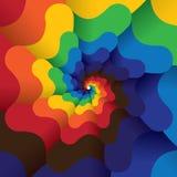 Kleurrijke abstracte oneindige spiraal van heldere kleurenachtergrond Royalty-vrije Stock Afbeeldingen