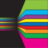 Kleurrijke abstracte samenstelling als achtergrond royalty-vrije illustratie
