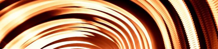 Kleurrijke abstracte slepen van licht Punten, lijnen en bokeh op donkere achtergrond Stock Fotografie