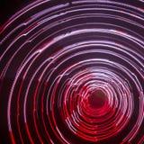 Kleurrijke abstracte slepen van licht Punten, lijnen en bokeh op donkere achtergrond Royalty-vrije Stock Afbeelding