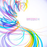 Kleurrijke abstracte technologie vectorspiraal Royalty-vrije Stock Foto's