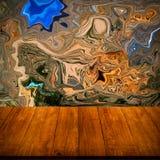 Kleurrijke abstracte tekening - de achtergrond is gedeeltelijk vage behi Stock Foto