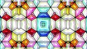 Kleurrijke abstracte van de het mozaïekcaleidoscoop van de kleurenmuziek video 3D naadloze de lijncyclus stock videobeelden