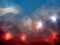 Kleurrijke abstracte vector driehoekige geometrisch Stock Afbeelding