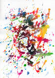 Kleurrijke abstracte verf Royalty-vrije Stock Foto's
