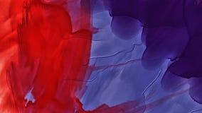 Kleurrijke abstracte vlekwaterverf Hoge resolutiebeeld, kleuren nat op droog document backgrund stock illustratie