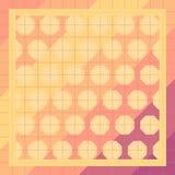 Kleurrijke Achtergrond in lapwerkstijl met vierkanten, honingraten stock illustratie