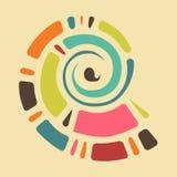Kleurrijke achtergrond met abstracte shell in retro kleuren vector illustratie