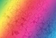 Kleurrijke achtergrond met bloemen Royalty-vrije Stock Foto