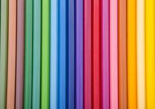 Kleurrijke achtergrond met kleurpotloden Stock Foto