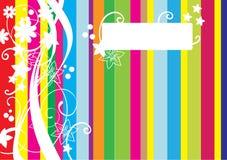 Kleurrijke achtergrond met lijnen Royalty-vrije Stock Foto's