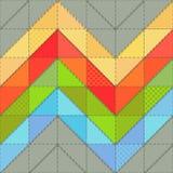 Kleurrijke achtergrond met patroon voor lapwerk met steken royalty-vrije illustratie