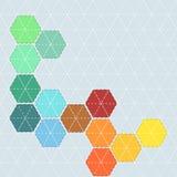Kleurrijke achtergrond met patroon voor lapwerk met steken en stock illustratie