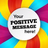 Kleurrijke achtergrond met tekst ruimte, helder malplaatje voor uw Ha Stock Foto's