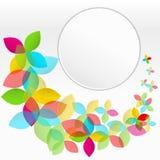 Kleurrijke achtergrond met vliegende bloemen Stock Foto's