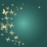 Kleurrijke achtergrond met vlinder. Vector Illustr Stock Afbeelding