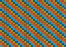 Kleurrijke achtergrond mozaïek gekleurde kubussen oranje blauwe rode oneindige reeks royalty-vrije illustratie