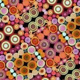 Kleurrijke achtergrond van broodjes van stof Royalty-vrije Stock Afbeeldingen