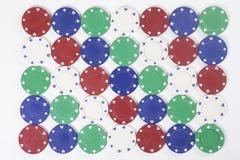 Kleurrijke achtergrond van casinospaanders Royalty-vrije Stock Foto