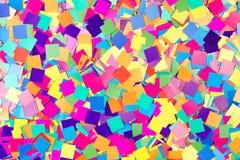 Kleurrijke achtergrond van document confettien stock afbeeldingen