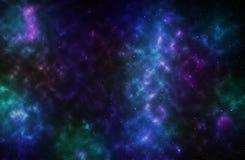 Kleurrijke achtergrond van een diep ruimtestergebied Stock Foto