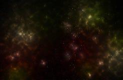 Kleurrijke achtergrond van een diep ruimtestergebied stock illustratie