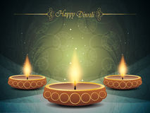Kleurrijke achtergrond voor diwali   Stock Fotografie