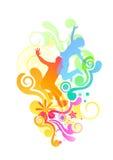Kleurrijke Actieve Mensen Stock Afbeelding