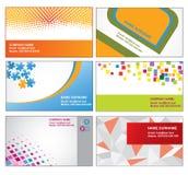 Kleurrijke adreskaartjesmalplaatjes Royalty-vrije Illustratie