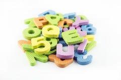 Kleurrijke alfabetbrieven Royalty-vrije Stock Foto's