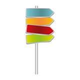 kleurrijke algemene metaalplaqueverkeersteken vector illustratie