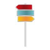 kleurrijke algemene metaalplaqueverkeersteken en wegwijzer vector illustratie