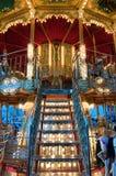 Kleurrijke & Gedetailleerde Carrousel Stock Fotografie