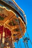 Kleurrijke & Gedetailleerde Carrousel Stock Afbeelding