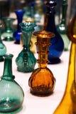 Kleurrijke Antieke Flessen stock foto's