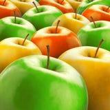 Kleurrijke appelen royalty-vrije stock fotografie