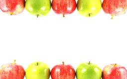 Kleurrijke appelgrens Stock Foto's